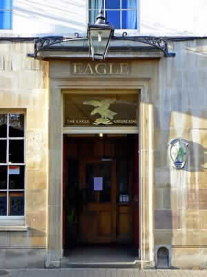 The door to the Pub & Visit Eagle Pub Tour Guide App