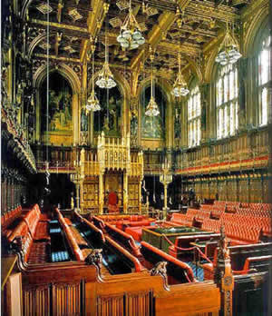 Houses Of Parliament Interior. The House of Lords was designed by Charles Barry and Augustus Pugin after  the fire 1834 ornate chamber is decorated in red gold with 3 frescos Visit Houses Parliament Tour Guide App